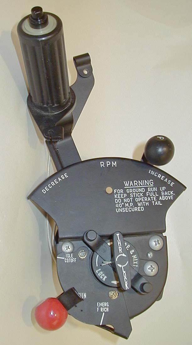 [作品]p51野马战斗机的节流阀把手 Throttle_Quadrants